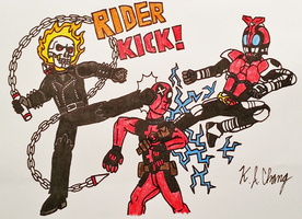 Double Rider Kick! by StealthNinja5