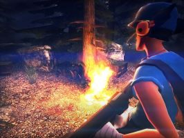 Scout - Campfire by Scout-Loco