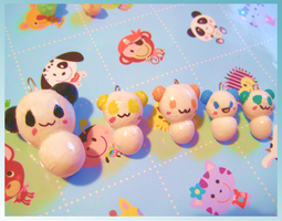 Fimo pandas by Frootytoo