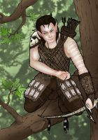 Knilfel, Bosmer Deadra Hunter Commision by Seithe