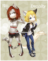 m... Rin and Dannity ...m by DigiKat04