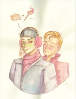 {Spirk Advent} ~ Day 12 pink tribbles?? by AmberSquash