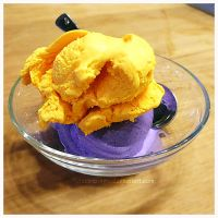 Mango Taro Ice Cream by electric-lime