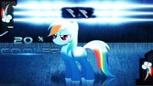 rainbow dash wallpaper (it's 20%cooler) by Ponydesign0