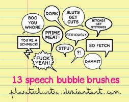 Speech Bubble Brushes by plastichurts