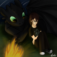 Nico and Toothless by JinGi