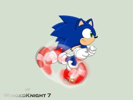 Sonic Running-STH4 Ep.2 Style by WingedKnight7