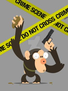 CSM - Crime Scene Monkey by JasperMouse