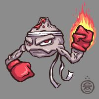 Alolan Geodude (Fighting/Fire Type) by shamsnelson