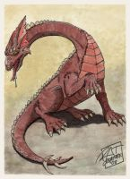 Fantasy: fairly generic dragon by ratcreature