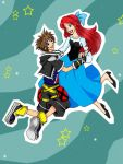 Comm : Sora and Ariel by pink-crest