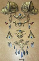 life size zelda assembly jewlery and armor by minidelirium