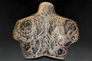 Untitled Female Torso -back- by skinmittens