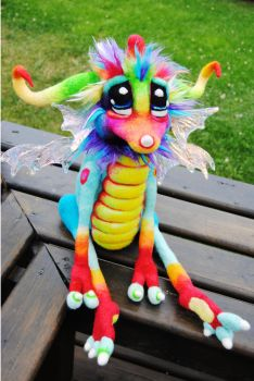 Rainbow Tingle-fruit Dragon by Tanglewood-Thicket