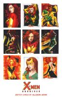 X-Men Archives Sketch Cards 5 by AllisonSohn