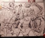 Dragon's Lair - Sharpie sketch by Danomight