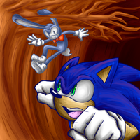 Sonic vs Protoype by SuperBlade9000