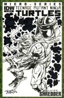 Teenage Mutant Ninja Turtles Donatello Sketchcover by ElfSong-Mat