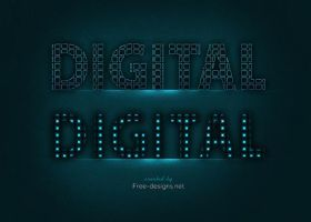 Photoshop digital text effects by Free-designs-net