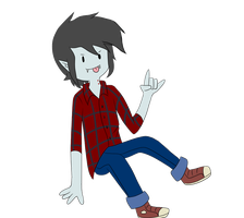 Floating Marshall Lee! by MayaNara