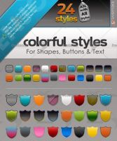 24 buttons and Text Ps Styles by kh2838