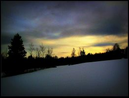 Wintery Sky at Easter by surrealistic-gloom