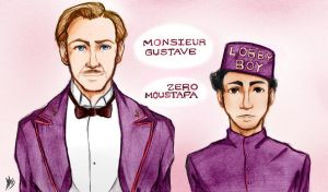 The Grand Budapest Hotel: Gustave and Zero by Smudgeandfrank