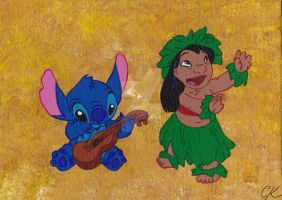 Lilo and Stitch by CaraLouKimba