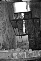 Inside of an Abandonded Building Stairs by Swaal
