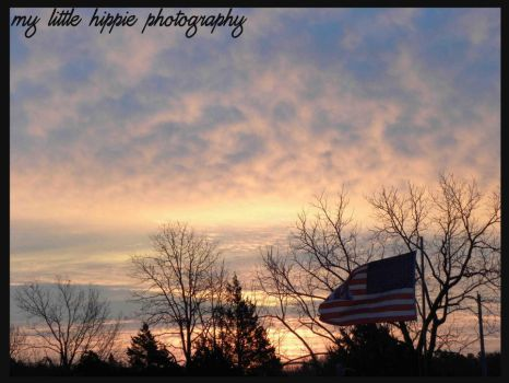 American sunset by My-little-Hippie