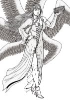 Commission Angel in Fashion by leandro-sf