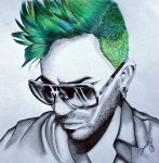Adam Lambert: Green Hair Don't Care by dojjU