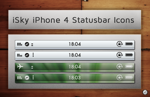 iSky iPhone4 Statusbar Icons by FloStyler0408