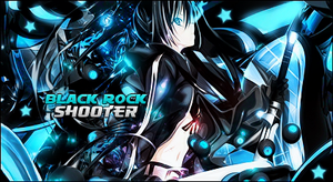 Black Rock Shooter Sign by direncefe