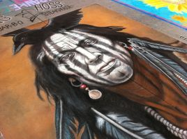 American Indian Portrait by AmazingStreetPaint