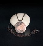 Homotherium Latidens Etched Copper Necklace by Gardi89