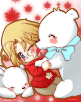 Canada - Polar Bear Love by hinoraito