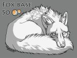 Fox base lineart 50pts by TransparentGhost