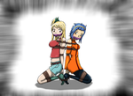 Lucy n Levy sitting in the... by couger49