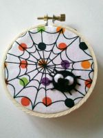 Spooky Spider Embroidery Hoop by msmegas
