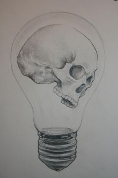 skull lightbulbsk. by mute-ation
