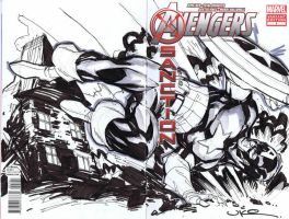 Avengers-Captain America sketch cover by ukosmith