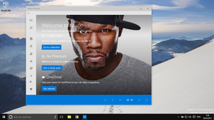 Windows 10 build 10074 music preview by MspnDev