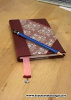 Royal bordeaux red journal by FeathersOfAnAngel