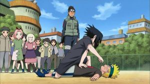Young Sasuke Uchiha defeated Naruto Uzumaki by TheBoar