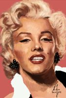 Marilyn Monroe 2 by Parziwal