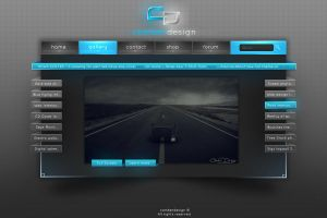 Modern Blue Web Interface by Camber Design by camber-design