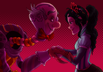 WiR - Cybug!Candy and Queen Vanellope by Shaiger