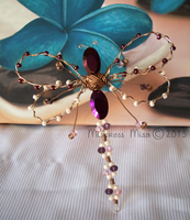 Wire Dragonfly Sculpture by Stormweaver-Arts