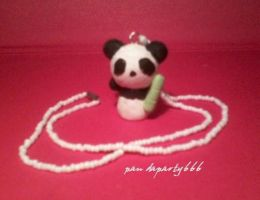 Panda Pendant Necklace by pandaparty666